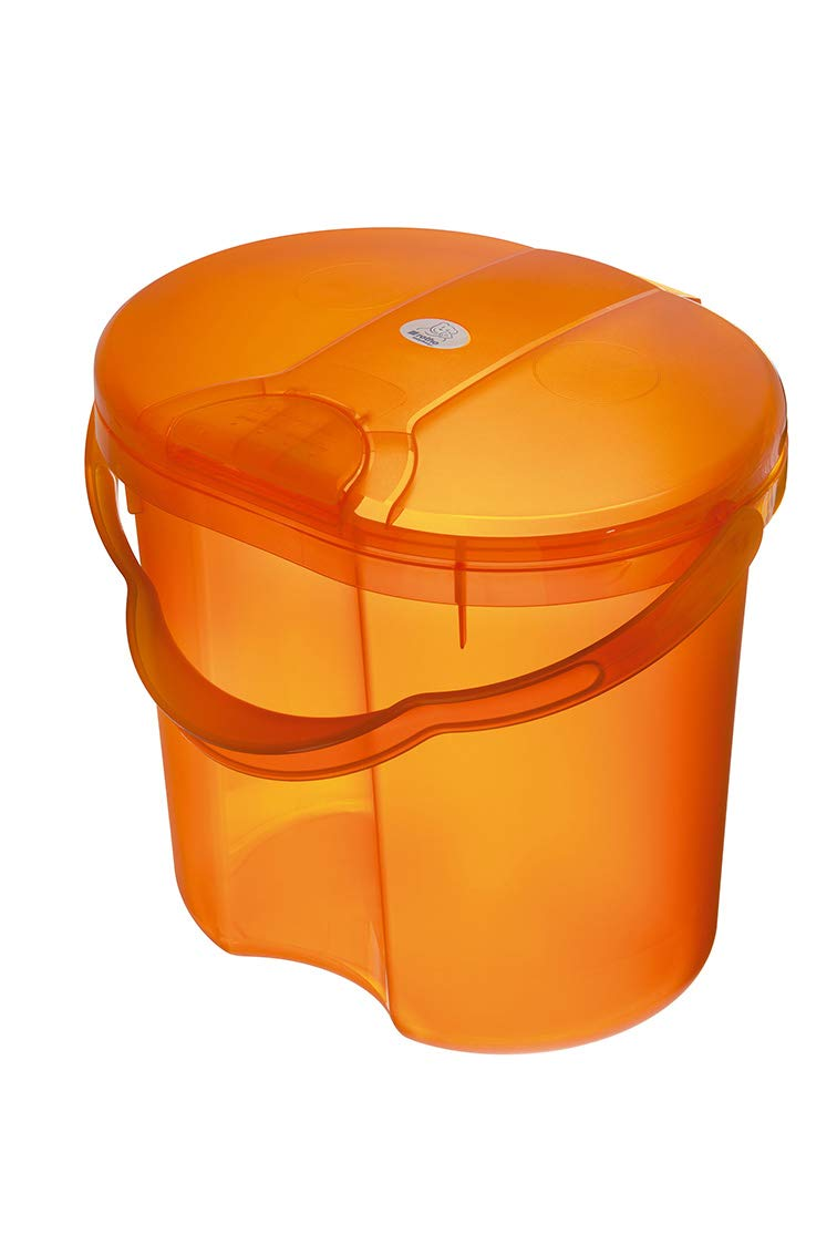 Rotho Babydesign TOP Nappy Bin with Lid 200020254 Peach TOP From 0 Months 11L Orange