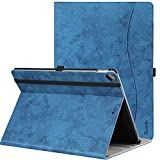 Ztotop Case for iPad Pro 12.9 Inch 2017/2015,for Model A1670/A1671/A1584/A1652,Premium Leather Business Folio Case Cover,with Stand,Pocket and Auto Wake/Sleep Function,Multi-angle,Mottled Blue