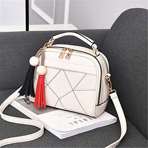 KJHGYBH Women Message H Bag Top-H le Shoulder Bags Small Casual Body Bag Totes Famous S Designer White Length 23cm