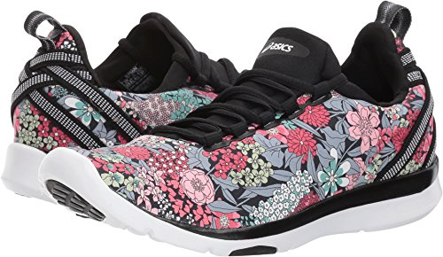 Asics Womens Gel-Fit Sana SE Black/White/Black Cross Trainer - 5 by ASICS