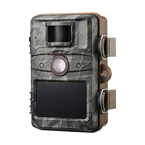 "VicTsing Trail Camera, 12MP 1080P Wildlife Camera with HD 2.4"" LCD Screen, 44 Black LEDs, IP66 Waterproof, Great for Wildlife Monitoring, Surveillance, Home Security For Sale"