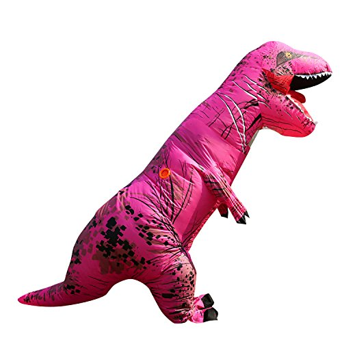 T-Rex Dinosaur Inflatable Costume for Unisex Adults Teens Blowup Fancy Outfit Rose (Inflatable Body Costume)