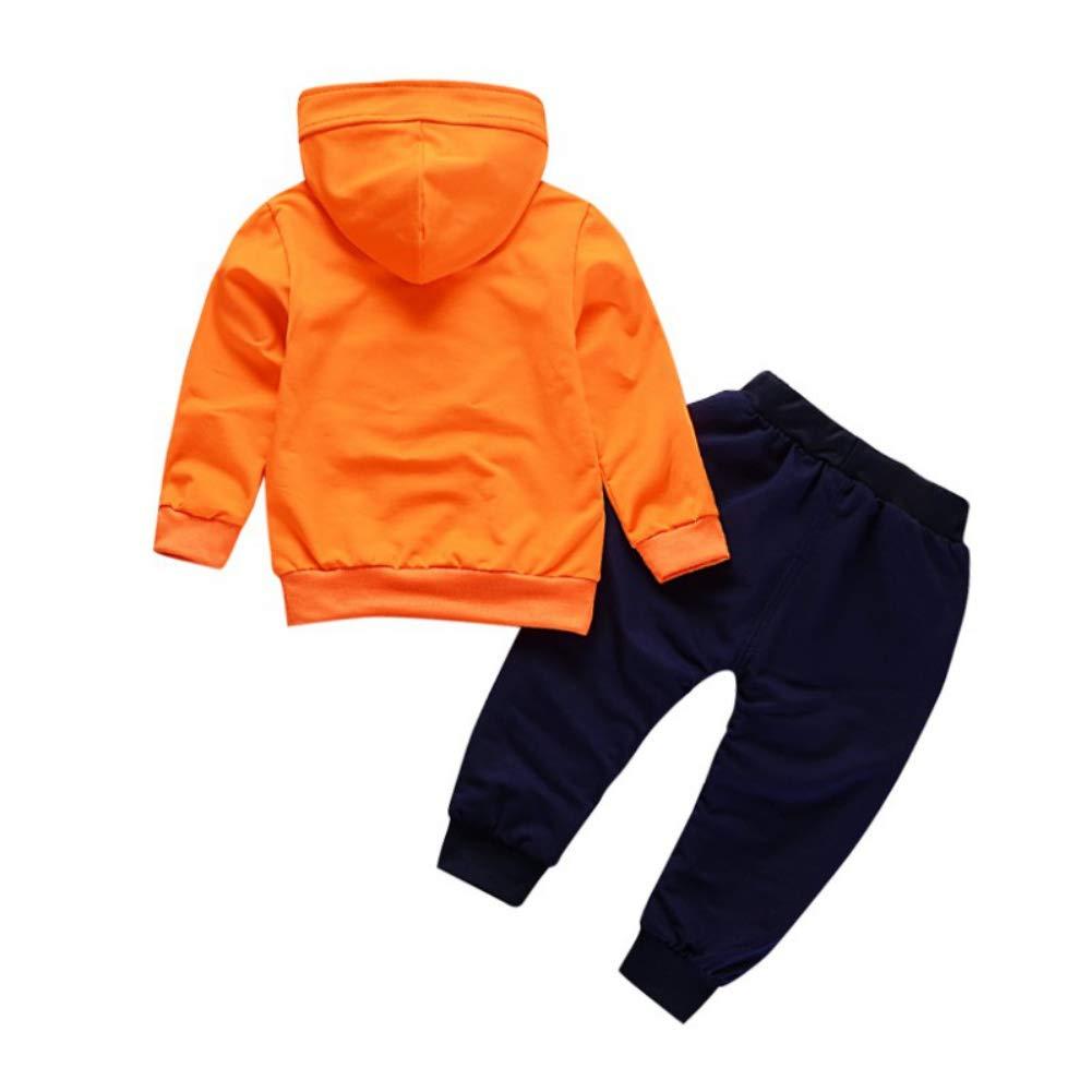 Hose Sporthosen 2Pcs Outfits f/ür 0-4 Jahre Kinder Gyratedream Baby Kleidung Set Junge Bekleidungssets M/ädchen Trainingsanz/üge Hoodie T-Shirt Langarmshirts Sweatshirt