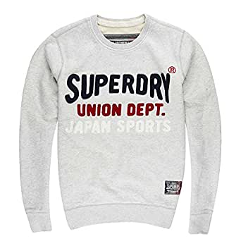Superdry Core Applique Men's Crew Sweatshirt Silver Heather Marl m20lp024f3-udd (Size 4X)
