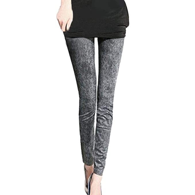 091027b79bbfd TIFIY Halloween Pants Women/Ladies Fashion Free Size Imitation Jeans  Elastic Mid Waist Skinny Leggings Casual Pencil Pants Office Lady Trouser  Tights Autumn ...