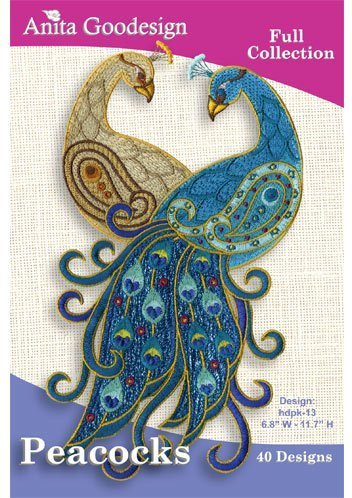 Anita Goodesign Embroidery Machine Designs Cd (Peacock Embroidery Designs)