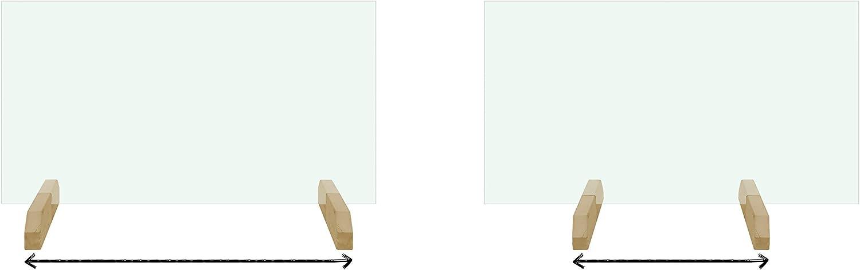 Barrera Protectora contra estornudos Separador para Mostradores en tiendas Pantalla Protectora de Cristal templado // con Soportes Bajos o Altos farmacias comercios etc