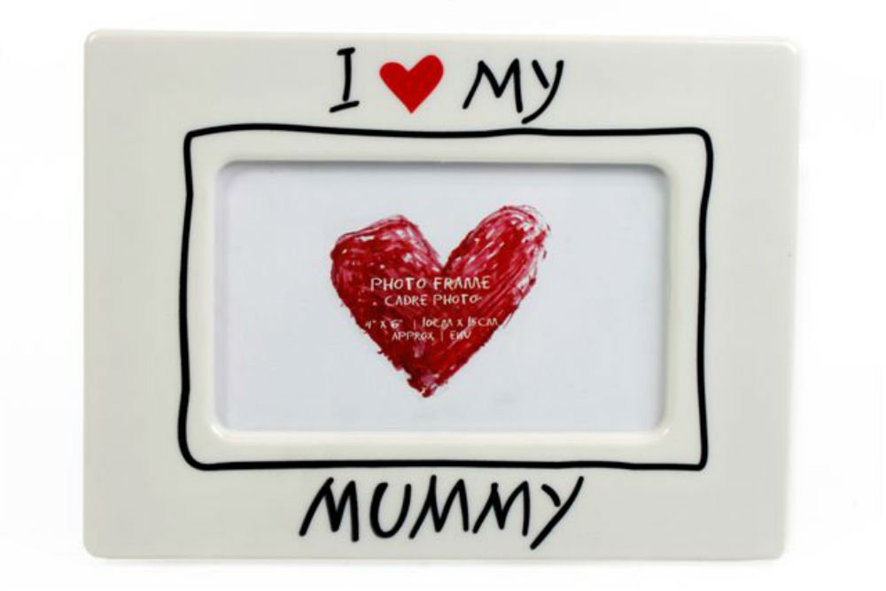 I Love My Mummy Heart Picture Photo Frame 6x4\