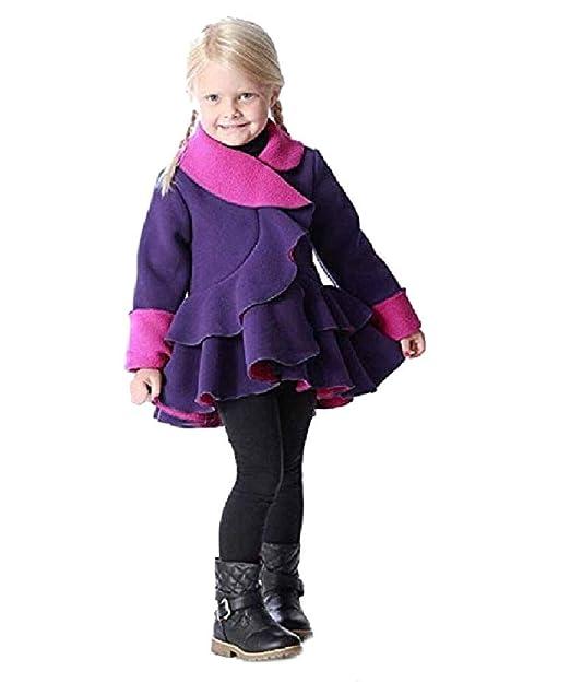 Ruffle Bottom VA1138911/_4D3A72 Fleece Coat for Girls Mack /& Co