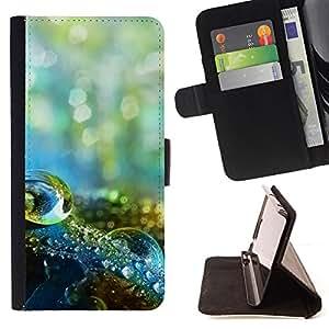 Jordan Colourful Shop - Water Drop Macro For Apple Iphone 6 PLUS 5.5 - Leather Case Absorci???¡¯???€????€??????????