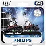Philips H11 Vision Upgrade Headlight Bulb/Foglight , 2 Pack