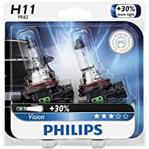 Philips H11 Vision Upgrade Headlight Bulb/Foglight , 2 Pack