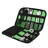 BAIGIO Unisex Tragbare Reisetasche für Electronisches Zubehöre Tasche Case Tragetasche Wasserdicht für USB Drive Shuttel Festplatte Kabel und sonstiges Zubehör,Schwarz