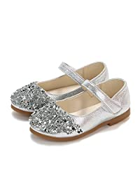 Princess Crystal Shoes for Baby Girls Kids Toddler Infant Party Wedding Dance Mary Jane Moccasins Leather Shoes