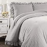 Lush Decor Light Gray Reyna Comforter Ruffled 3