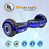 NHT 6.5″ Hoverboard Electric Self Balancing Scooter Sidelights – UL2272 Certified Chrome Color