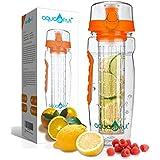 AquaFrut 32oz Fruit Infuser Water Bottle (Orange)