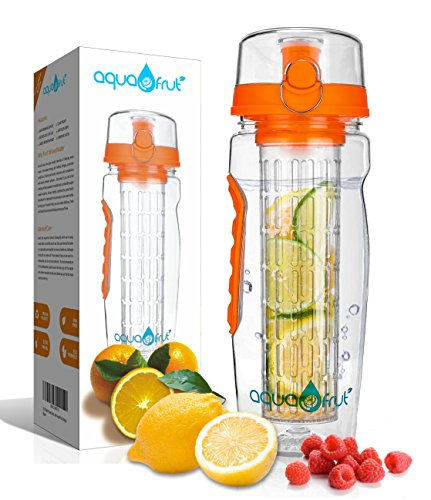 AquaFrut 32oz Fruit Infuser Water Bottle (Orange)