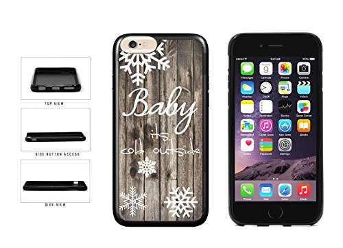 BleuReign(TM) Baby Its Cold Outside Christmas Snowflake TPU Rubber SILICONE Phone Case Back Cover For Apple iPhone 6 6s (4.7 Inches Screen)