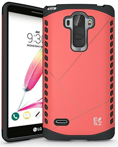 ECOZ [SHIELDX LITE] Slim Protective Dual Layer Armor Case Cover for LG G Stylo / LG G Stylus (LS770) (Rose - Case Protective Ezgear