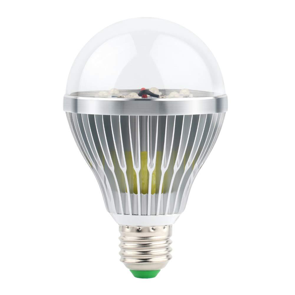 LaluceNatz UV LED Black Lights Bulbs, 18W UV Spotlight E27,Glow in the Dark for Blacklight Party