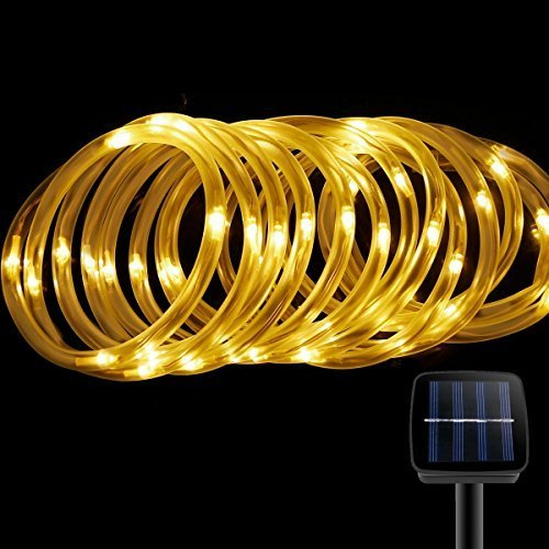 Solar Rope Lights,Findyouled Outdoor Waterproof 100LED 33ft Decoration Light,Automatically Working From Dusk