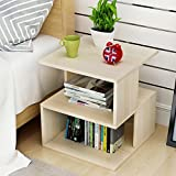 Living room small table modern bedside table bedroom storage simple table 404043cm ( Color : Maple color )