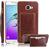 Excelsior Premium Leather Card Holder Back Cover Case for Samsung Galaxy A7 2016 Edition - Brown