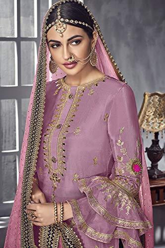 Women Designer Ethnic Kameez Pink Partywear Traditonal Da Salwar Facioun Indian P0kn8wO