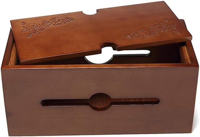 Bclaer72 - Caja de Cable de alimentación de Madera, protección contra el Polvo, para ordenar Cables: Amazon.es: Hogar