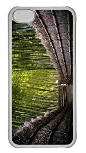 Customized iphone 5C PC Transparent Case - Unique Stairs To The Forest Personalized Cover