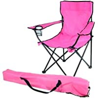 Folding Outdoor Camping Chair Pink
