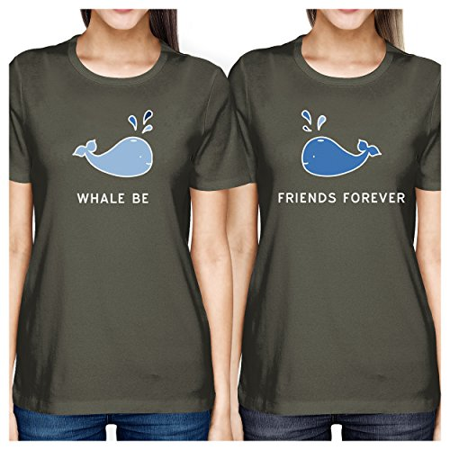 Friend de mujer Dark corta manga Be Camiseta Whale One Matching Bff 365 para Printing Talla Grey wxURPP