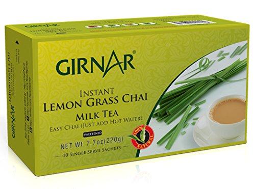 Girnar Instant Chai (Tea) Premix With Lemongrass, 10 Sachet Pack