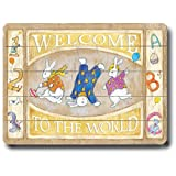 Welcome To The World 18''x24'' Planked Wood Sign Wall Decor Art