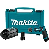 """Makita DF012DSE 7.2V Lithium-Ion Cordless 1/4"""" Hex Driver-Drill Kit with Auto-Stop Clutch"""