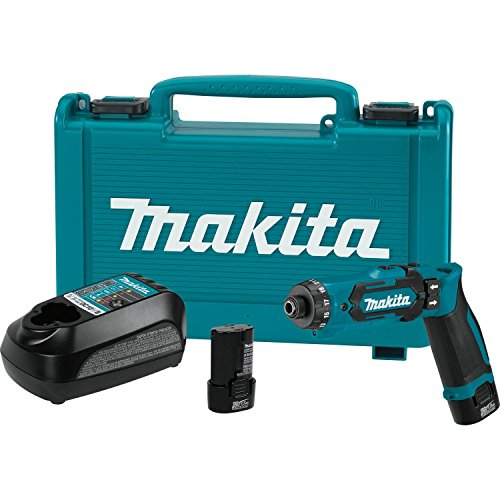 Makita DF012DSE 7.2V Lithium-Ion Cordless 1/4″ Hex Driver-Drill Kit with Auto-Stop Clutch