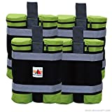 Super Heavy Duty New Abccanopy Premium Instant Shelters Weight Bags (55 lbs/bag) – Set of 4 – Black/green