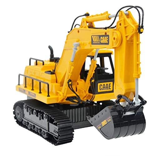 Children Toys Dartphew [ Excavator 6-Channel RC Tractor Truck Digger Car Remote Control 2.4G Buggy Toy ] - Environmental Design - Gift for Kids Baby Boys Girls ( Plastic )