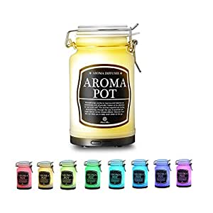 Aromatherapy Essential Oil Diffuser by AromaAllure - 2 Different Modes & 7 Colors Rotating Lights - AC & USB Powered - For Professional Spa & Home Use - Perfect Gift Idea