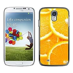 EJOY---Cubierta de la caja de protección la piel dura para el ** Samsung Galaxy S4 ** --Modelo anaranjado de la rebanada