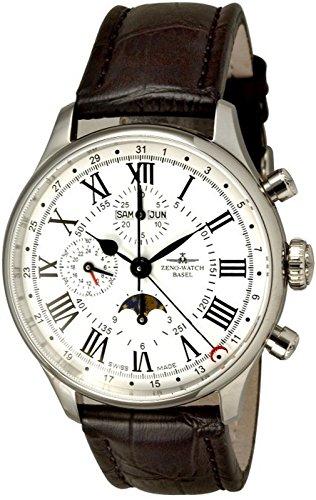 Zeno-Watch Mens Watch - Godat II Fullcalendar Chronograph Roma - 6273VKL-i2-rom