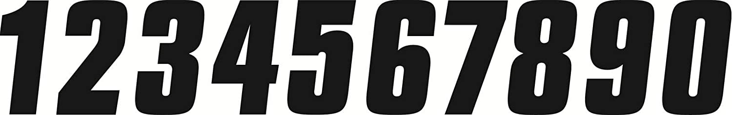 Factory Effex FX 6' Factory Numbers - 3/Black 08-90043