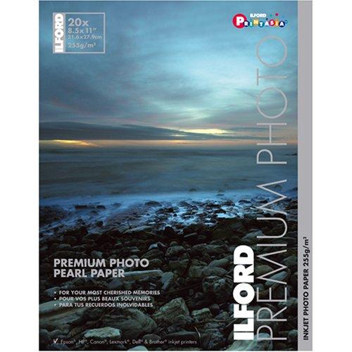 Ilford Premium Pearl 8 1/2 x 11 Inch Photo Paper 20 Sheets -