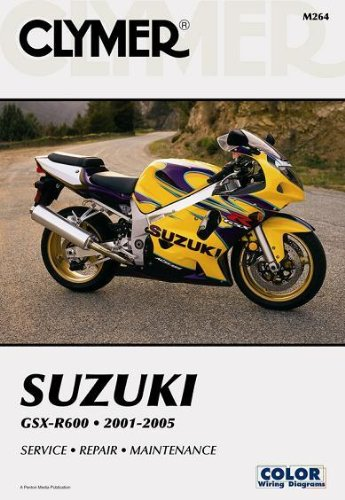 amazon com clymer repair manual for suzuki gsx r600 gsxr 600 01 05 rh amazon com 2005 suzuki gsxr 750 service manual pdf 2005 gsxr 750 service manual
