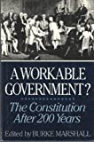 A Workable Government, Burke Marshall, 0393024806