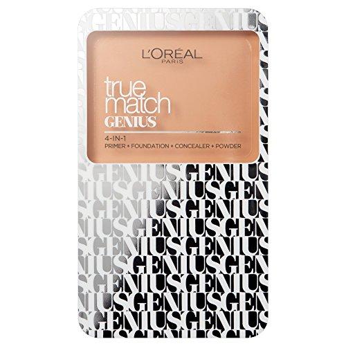 - L'Oréal Paris True Match Genius Compact Foundation 4 In 1 Color 5.N Sand 0.24 oz