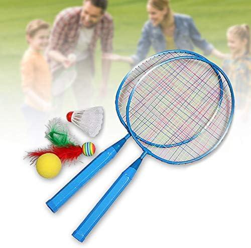 MRAKII 1 Pair Children Tennis Badminton Rackets Ball Set Sports Family Game Toy Kids Badminton Rackets