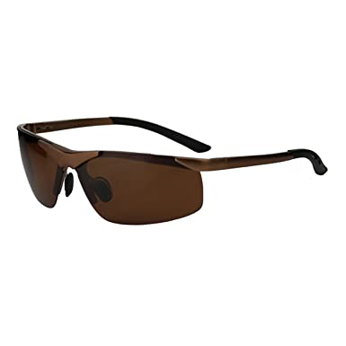 JULI Polarisiert Sport Sonnenbrillen Damen Herren Fahren Baseball Radfahren Golf Superlight Unzerbrechlich Rahmen edOcW
