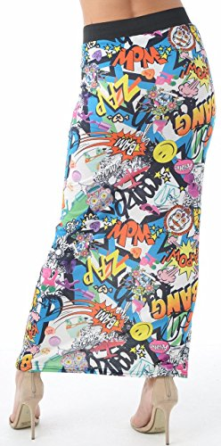 Crazy Girls Women Elasticated Gypsy Long Plain Printed Maxi Skirt.UK 8-26